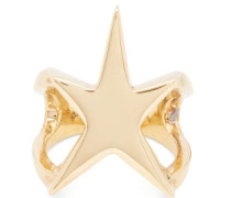 Lucky Star Gold-plated Sterling-silver Ring