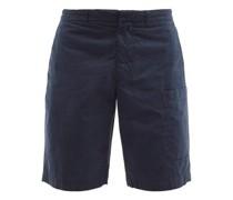 Havana Tumbled Cotton-poplin Cargo Shorts