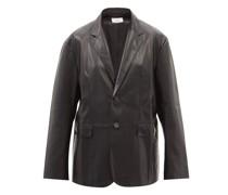 Olympia Faux-leather Blazer