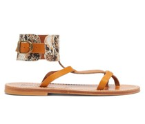 Caravelle Python-print Leather Sandals