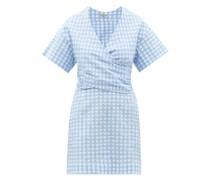 Flora Gingham-check Cotton-blend Seersucker Dress