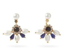 Crystal & Faux-pearl Fan Earrings