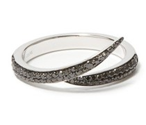 Interlocking Diamond & 18kt White-gold Ring