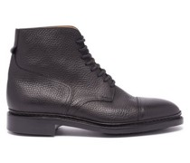 Skye Lace-up Grained-leather Ankle Boots