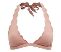 Spring Scalloped-edge Halterneck Bikini Top