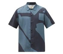 Gabe Abstract-print Poplin Shirt