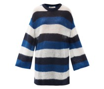 Striped Oversized Mohair-blend Sweater