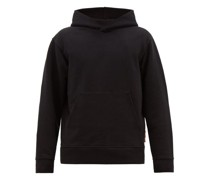 Forres Logo-tab Cotton-blend Hooded Sweatshirt