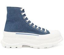 Tread Slick High-top Chunky-sole Canvas Trainers