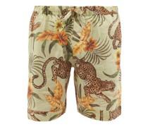 Soleia-print Linen Pyjama Shorts