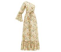 Regina Fil-coupé Floral-print Silk-blend Dress
