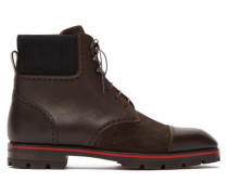 Citycroc Leather And Suede Lace-up Boots