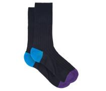Portbello Ribbed-knit Socks