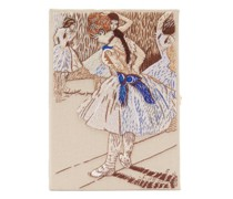 Study Of A Ballet Dancer Embroidered Book Clutch