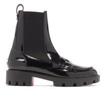 Montezu Patent-leather Chelsea Boots