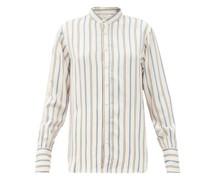 Gladstone Stripe-jacquard Twill Shirt