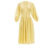 Valeraine Balloon-sleeved Cotton-gauze Shirt Dress
