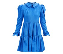 Lucy Ruffled Moiré Mini Dress