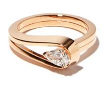 Serti Inversé Diamond & 18kt Rose-gold Ring