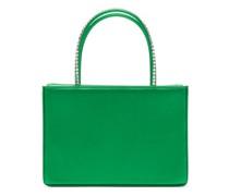 Amina Gilda Crystal-handle Silk-satin Box Bag