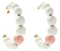 Giocoliere Beaded Hoop Earrings