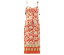 Prettier In Spanish Floral-print Cotton Midi Dress