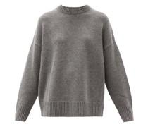 Oversized Round-neck Wool-blend Sweater