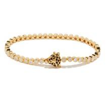 Leopard Diamond & 18kt Gold Bracelet