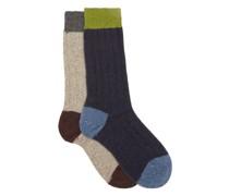 Thornham Pack Of Two Ribbed Socks