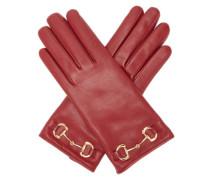 Horsebit Leather Gloves