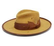 Clematis Distressed Felt Fedora Hat