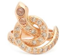 Berus Diamond & 18kt Rose-gold Snake Ring