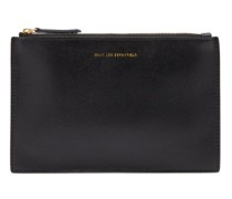 Lawrence Grained And Smooth Leather Pouch