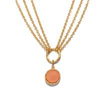Triple-chain Quartz Necklace