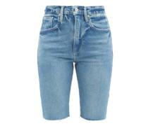 Le Vintage Raw-edge Denim Shorts