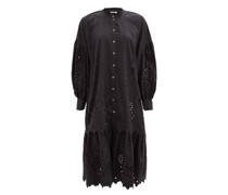 Fern Broderie-anglaise Cotton-poplin Shirtdress