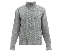 Cable-knit Merino-wool Blend Sweater