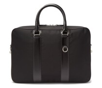 Technical Nylon And Leather Briefcase