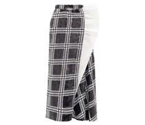 Ruffled Checked Sequin Maxi Skirt