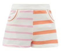 The Sophie Colour-block Striped Jersey Shorts