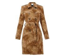 Fairbanks Leopard-print Velvet Trench Coat