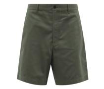 Elasticated-waist Cotton-blend Twill Shorts