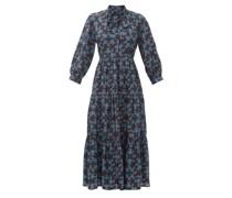 Olivia Floral-print Twill Midi Dress