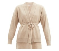 Double-layer Belted Ribbed-cashmere Cardigan