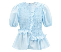Carrie Ruffled Faille Top