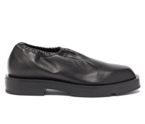 Logo-plaque Supple-leather Slip-on Shoes