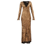 Ailish Plunge-neckline Sequinned Maxi Dress