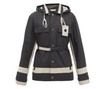 Colour-block Cotton-ripstop Cargo Jacket