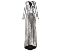 Stardust Sequinned Chiffon Gown