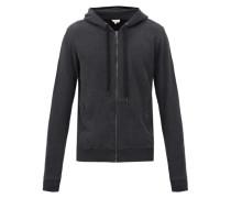 Devon Zipped Cotton-jersey Hooded Sweatshirt